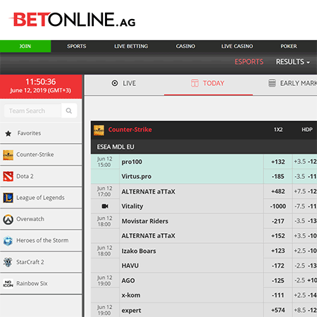 BetOnline eSports reviews | BetOnline eSports betting | eSports Portal